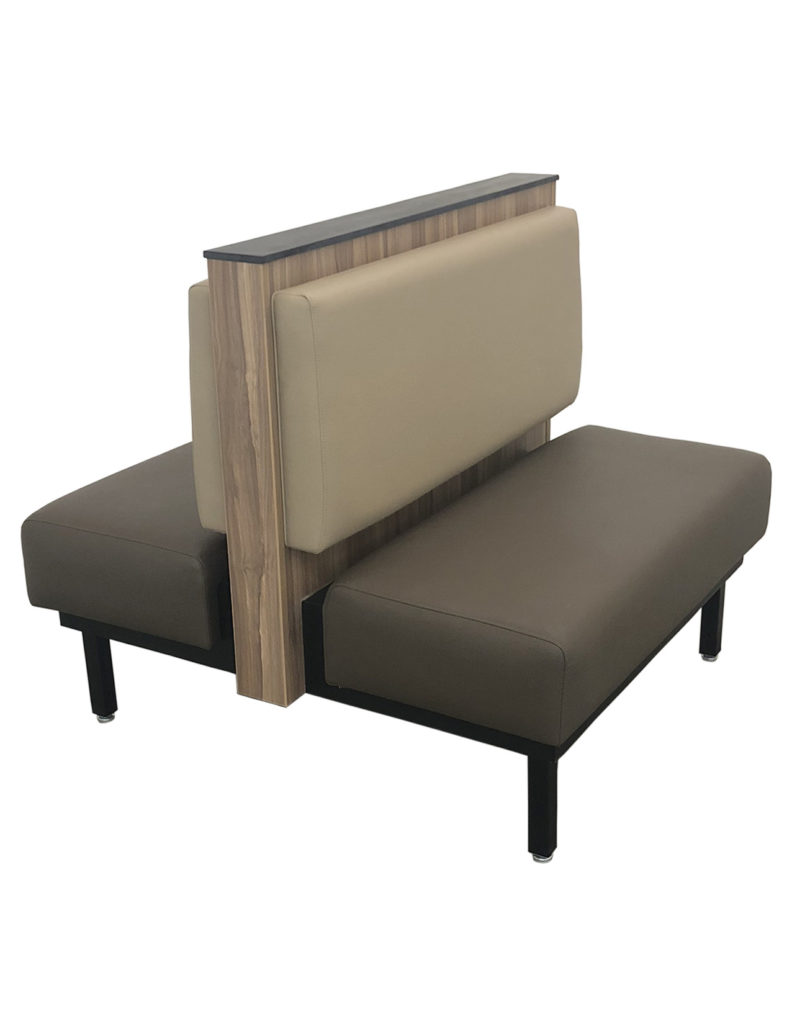 Garden Grill Double Booth with Upholstered Seat and Steel/Laminated Frame
